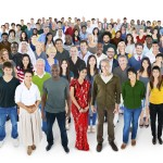 Crowed of Diversity People Friendship Happiness Concept